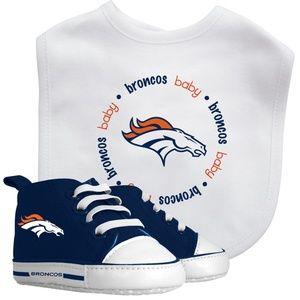 NFL Denver Broncos Baby Bib & Pre Walker Set